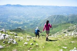Camino de descenso del Pico Pienzu, Asturias