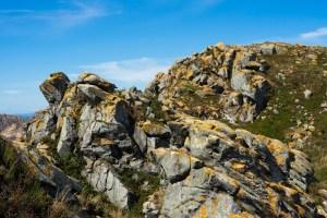 Paisaje típico de rocas de las islas Cíes