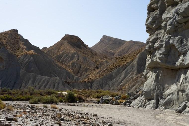Paisaje del desierto de Tabernas, Almería