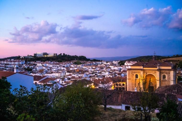 Atardecer en Aracena, visto desde el Castillo