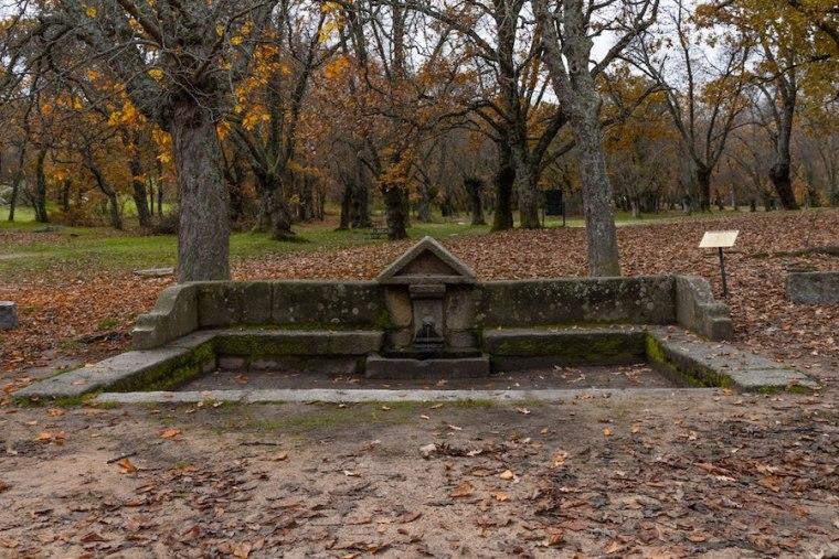Fuente de la Prosperidad, junto al aparcamiento del Bosque de la Herrería, El Escorial