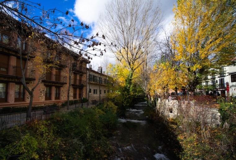 El río Lozoya a su paso por Rascafría