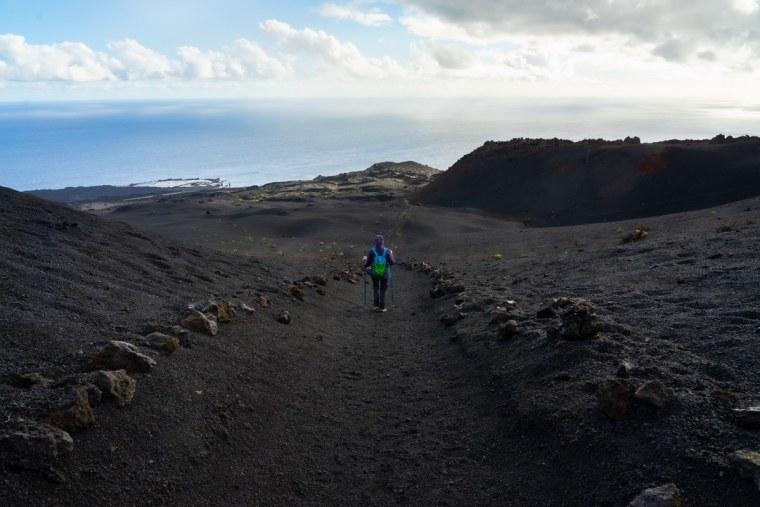 Final de la Ruta de los Volcanes, llegando al Faro y las Salinas de Fuencaliente, La Palma