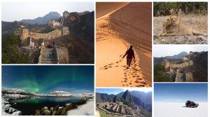 Collage sueños viajeros cumplidos