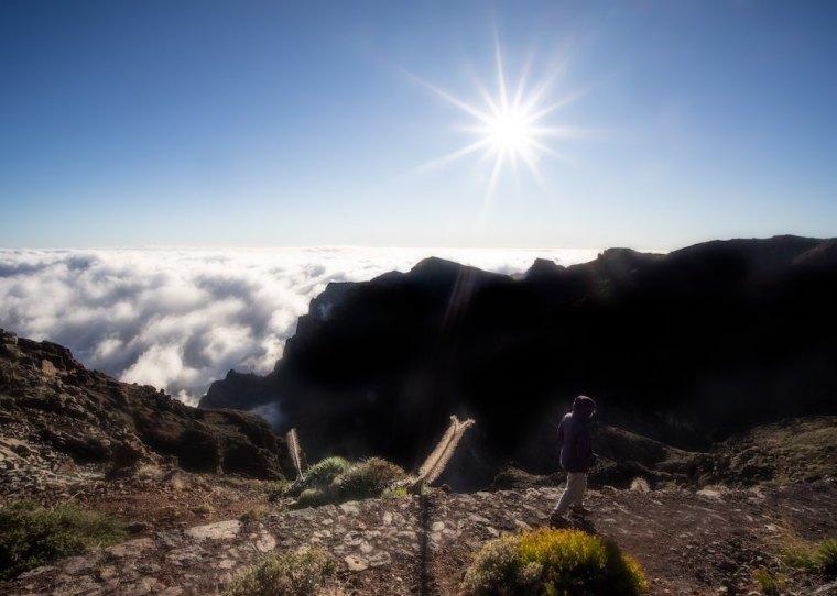 Sendero entre los miradores de Roque de los Muchachos