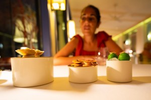 Menú degustación en el restaurante Vista, en Portimao, Algarve
