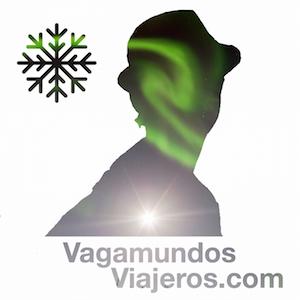 Logo de invierno con aurora boreal - Vagamundos Viajeros Blog de Viajes