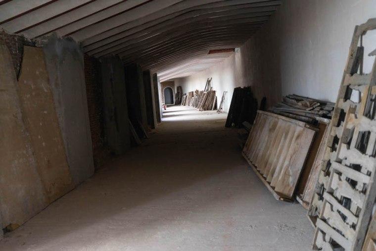 Obras de rehabilitación del frontón Beti Jai, Madrid