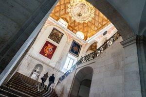 Escalera principal en el interior del Palacio Real de Aranjuez
