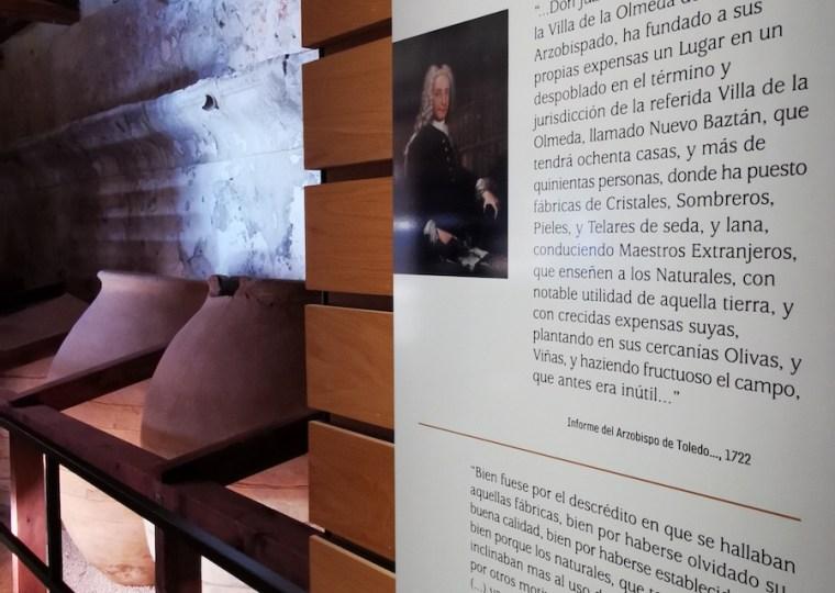 Centro de Visitantes de Nuevo Baztán, situado en la antigua bodega del Palacio