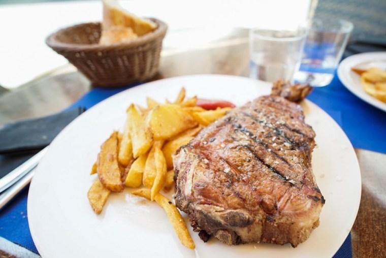 Chuletón en el restaurante Casa de Postas, Ávila