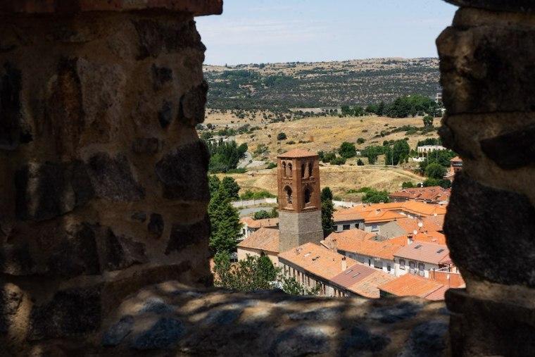 Vistas paseando por el adarve de la muralla de Ávila