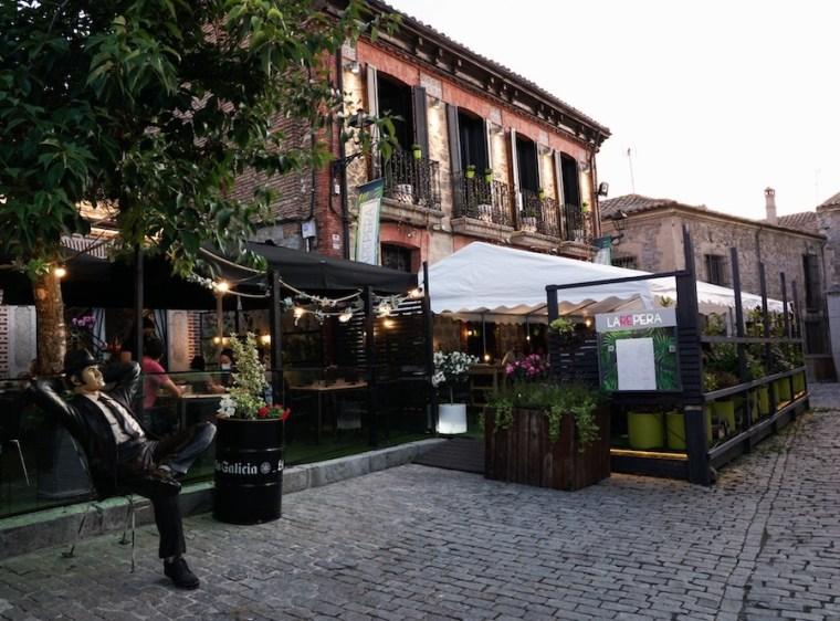 Terraza del restaurante La Repera, Ávila