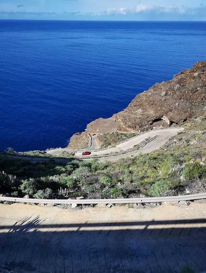 Carretera de acceso a Porís de Candelaria, La Palma