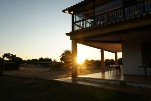 Atardecer en la casa rural Sierra de Monfragüe