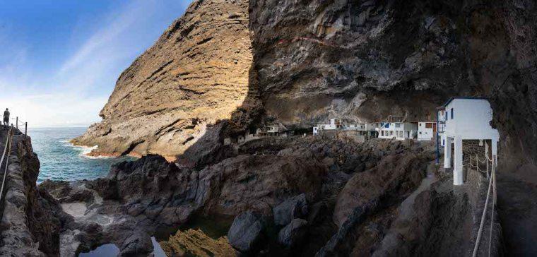 Casas y pozas en Porís de Candelaria, La Palma