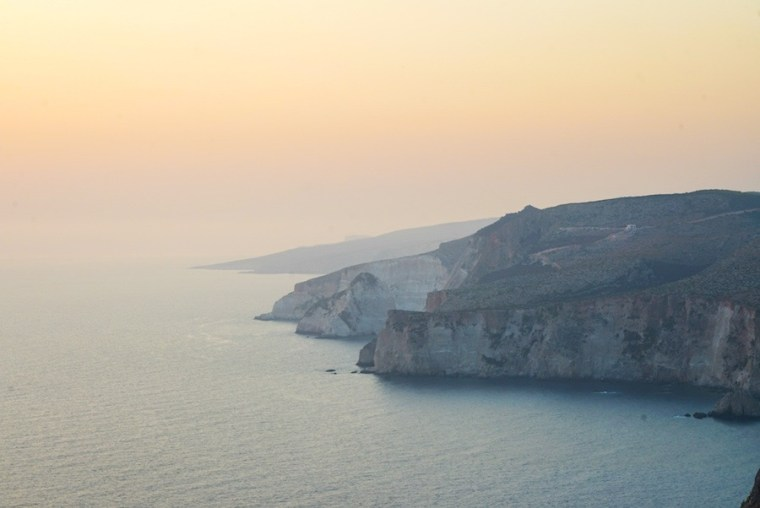 Atardecer en la costa de Keri, isla Zakynthos