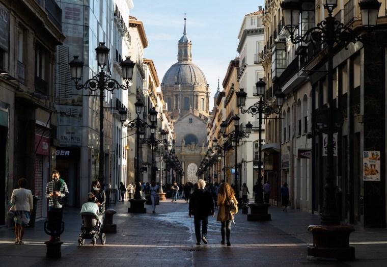 Calles del centro histórico de Zaragoza