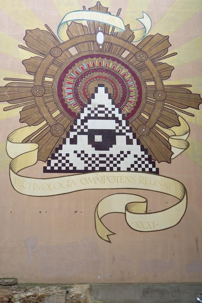 Mural de Boa Mistura en Zaragoza