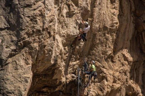 El desfiladero de los Gaitanes es frecuentado por escaladores
