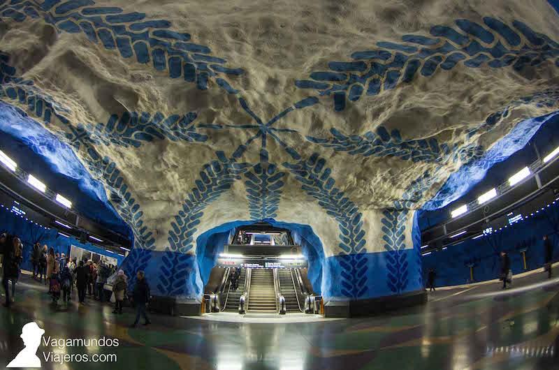 Metro Arte en Estocolmo  Vagamundos Viajeros