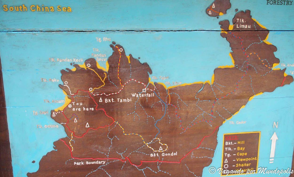 mapa-parque-nacional-de-bako