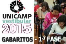 Gabarito 1ª fase do vestibular 2015 da Unicamp 01