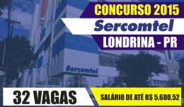 Concurso Sercomtel 2015 - Inscrições, edital 01
