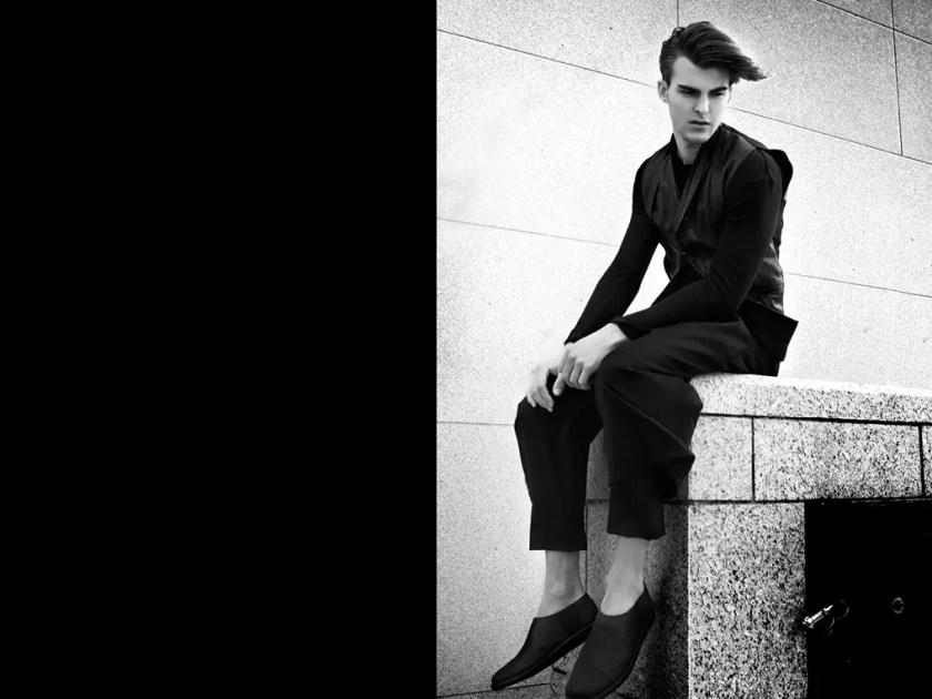 Model Patrick Kafka New York Fashion Editorial