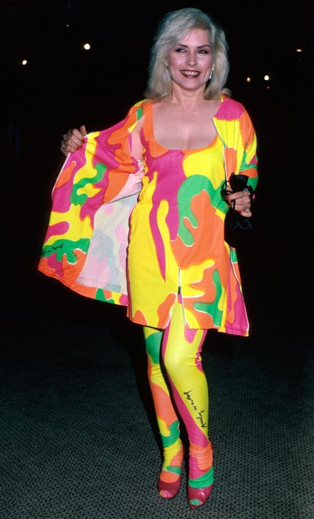 Debbie Harry in Stephen Sprouse Collection x Andy Warhol