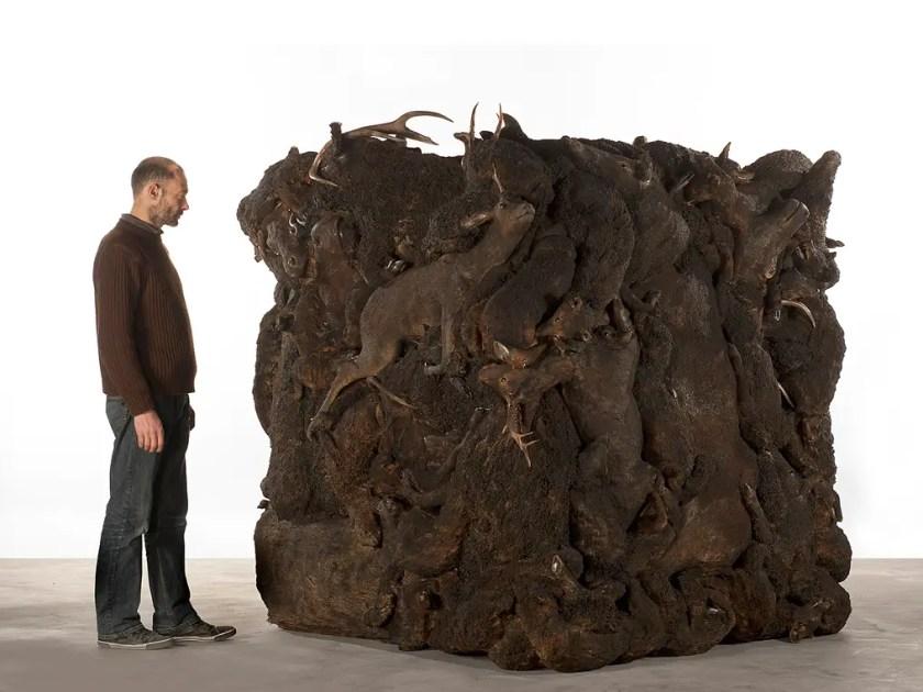 Artist Adel Abdessemed show at David Zwirner Gallery