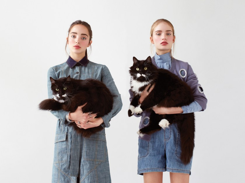 Women's Style Editorial models with cats