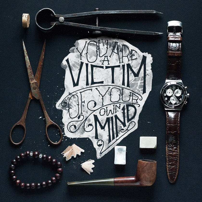 You are a Victim of your Mind calligraphy Gosha Bondarev