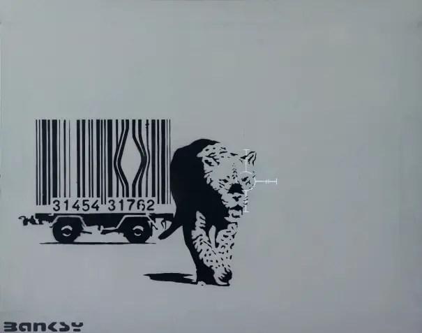 Barcode Leopard - Banksy