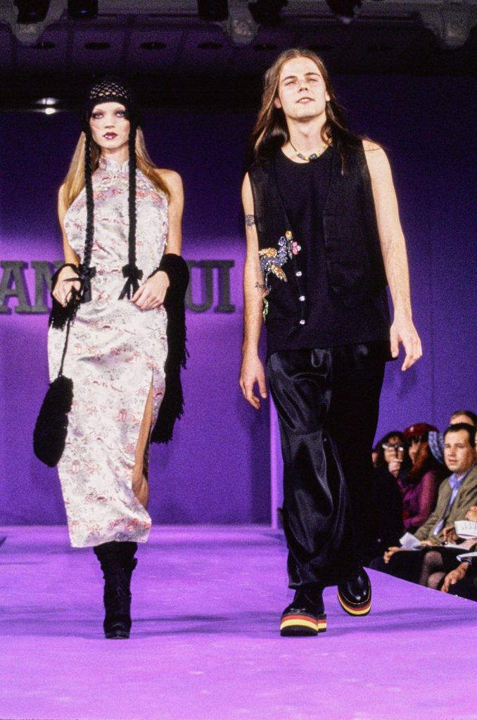 Kate Moss at Anna Sui Fashion Show in the 90s