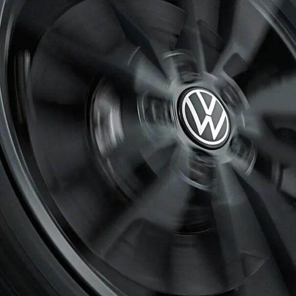 Original Volkswagen 000071213D Nabenkappe , dynamisch, mit stehendem Logo im Fahrbetrieb (NEUE VW LOGO)