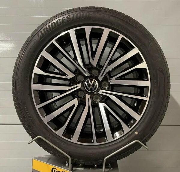 Original VW Transporter Palmerston 18 Zoll T6.1 Sommerräder 7E0601025S 8J x 18H2 ET50 Alufelgen Kompletträder Felgen T5 T6 Multivan