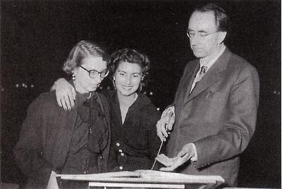 Gertrud & Nuria Schoenberg, Hans Rosbaud - Moise & Aaron creation - Hambourg - 1954