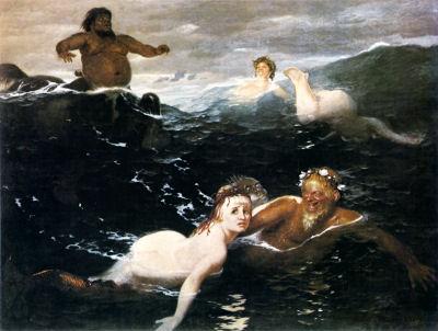 """Arnold Böcklin - """"Im Spiel der Wellen. 1883"""""""