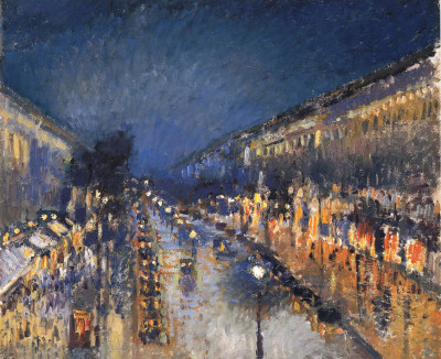 Camille Pissarro The Boulevard Montmartre at Night 1897
