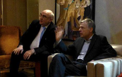 Avec Etienne Barilier, reçu par le Syndicat de la critique parisienne