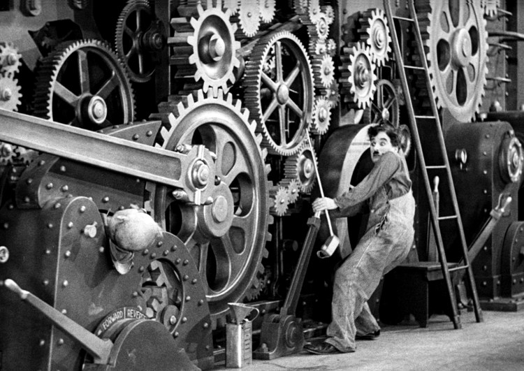 modern times chaplin finds freedom in the age of