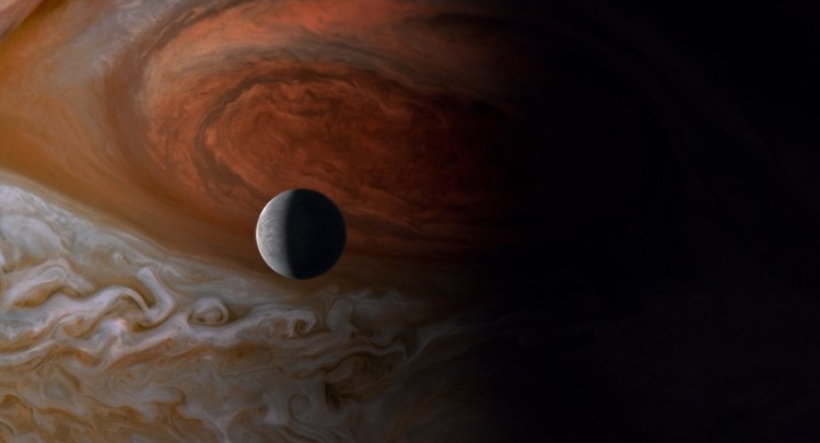 Jupiter and Europa, one of his moons