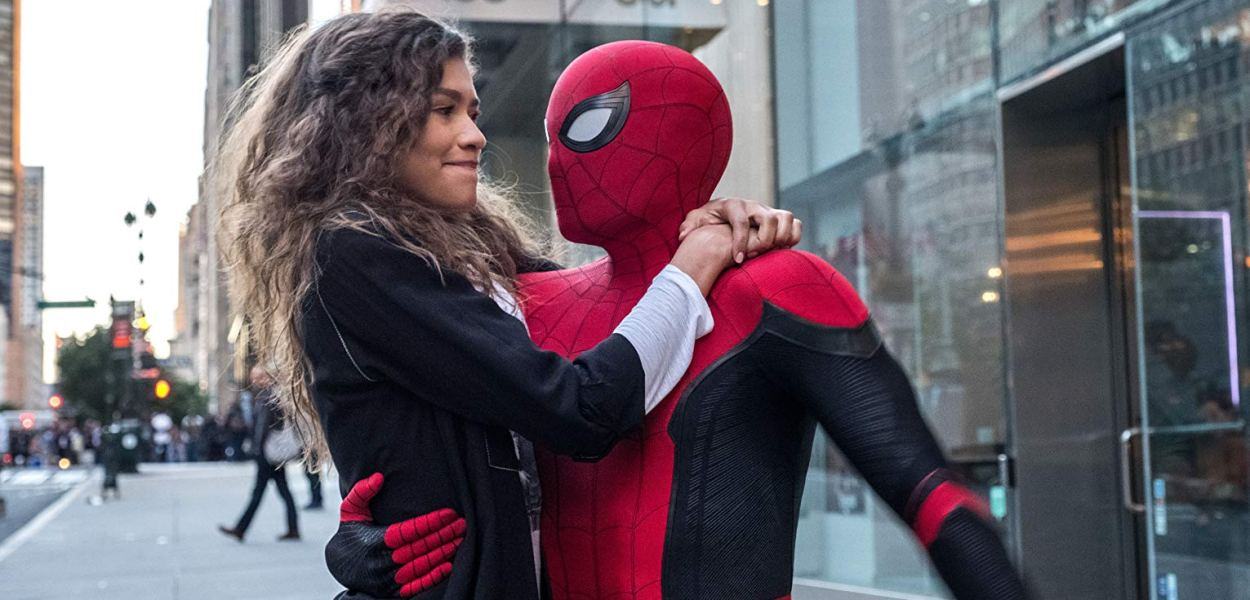 Zendaya Coleman and Tom Holland in Spider-Man: Far From Home