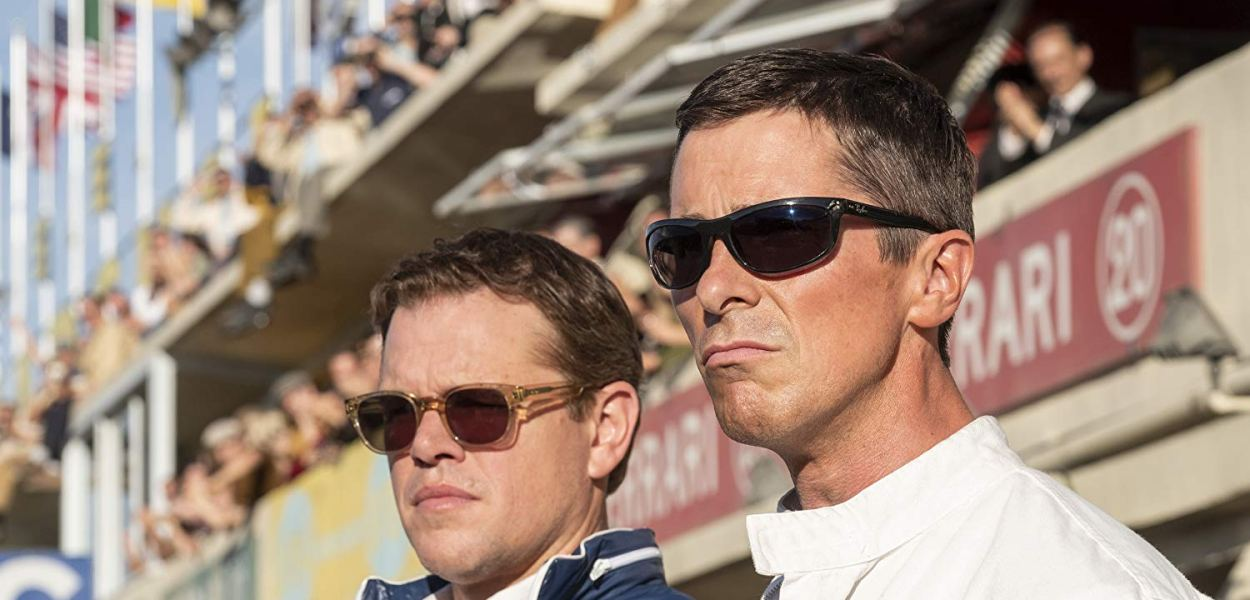 Matt Damon and Christian Bale in Ford v Ferrari (2019)