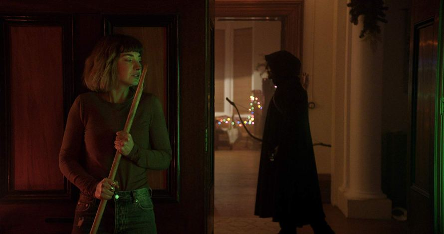 Imogen Poots and Jonny McBride in Black Christmas