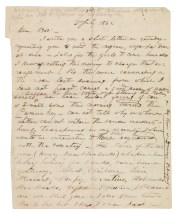 Letter of William Barrett Sydnor to Thomas White Sydnor concerning African-American slaves. (VHS call number: Mss2 Sy256 a 1)