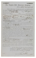 Insurance policy, 1864, issued to J. R. Gates for an African-American slave, Stephen (VHS call number: Mss4 V81945 b 3)