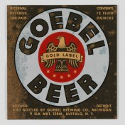 Goebel Beer Label (VHS call number: Mss1 R3395a)