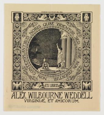 Bookplate (VHS accession number: 2012.1.5 [Wellford Colllection])